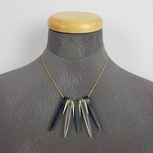 Color By Amber Navy & Gold Point Necklace